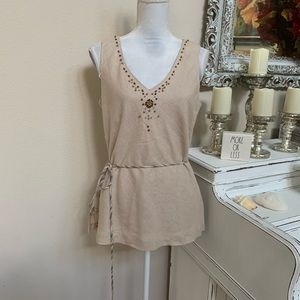 Sheri Martin Beaded Blouse Size 10 (0048)